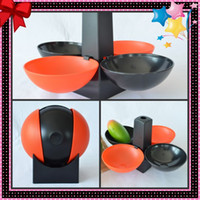 Wholesale Plastic football shape dessert fruit nut plate storage serving candy tray compot