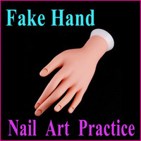 Wholesale Nail Art Equipment False hand Adjustable Nail Art Fake Hand for Training amp Practice