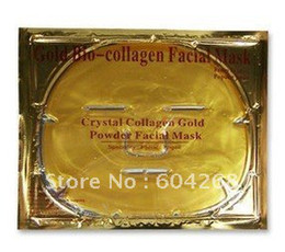 Wholesale Gold Bio Collagen Facial Mask Crystal Gold Powder Collagen Facial Mask Moisturizing Anti aging lo