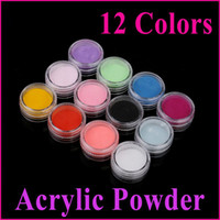 Wholesale AJ545 sets Colors Acrylic Powder Nail Tools D Nail Art Manicure Nail Tips Decoration Free Shippi
