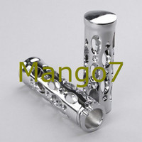 Wholesale Brand New Motorcycle Handlebars Grips quot Chrome Plated Billet Aluminium