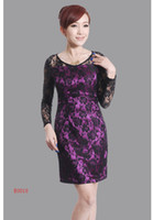 Wholesale Low profit Sexy Chinese Style Silk Women Dress bridesmaid Dress Cheong sam Party dress lace E0018
