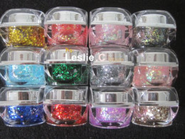 Wholesale COLOR SOLID UV GEL Led Gel with big glitter crush shell for NAIL ART ml pot UGS13
