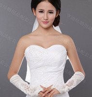 Wholesale HOT pair Sweet Bud silk flower beaded gloves Bridal Gloves Wedding Gloves Decorating Bride