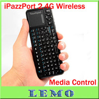 Wholesale Mini Handheld iPazzPort keyboard G Wireless Keyboard Laser Light Pen for Google TV Retail Box