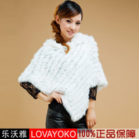 Wholesale 2012 autumn Specials solid color genuine Triangle angora knit the shawl jacket white coffee black Ko