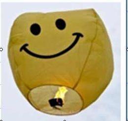 Cara sonriente de la linterna del cielo de la lámpara Kongming Deseando globos linterna de papel de regalo de Navidad # 7156