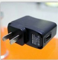 Wholesale Black USB AC Power Supply Wall Adapter Adaptor MP3 Charger USA Plug MP3 MP4 Black