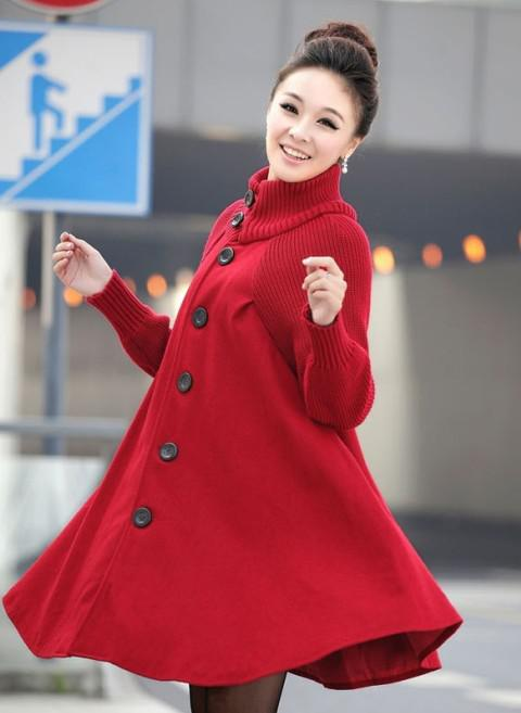 Womens Coats Plus Size Clothing Casual Wool Coat Ponchos Outerwear Winter Woollen Sweater Coats 516 Online with $44.11/Piece on Free-loop's Store | DHgate