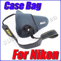 Wholesale Neoprene protective lens cover housing for Nikon Digital SLR camera bag