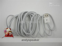 Wholesale DHL free M FT USB Cable amp M FT USB Cable data sync cable for ipd white