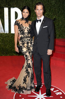 Wholesale 2013 Sexy Prom Dresses Black Lace camila alves zuhair murad spring couture Lace Celebrity Dresses
