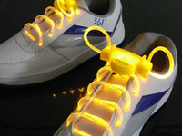 Wholesale retail Led Light Up Flashing Glowing Shoelaces LED Shoe Laces flash Lighting the Night For party