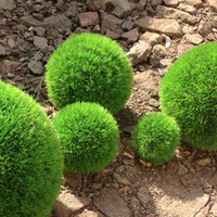 Wholesale 22cm GREEN GRASS ARTIFICIAL IN OUTDOOR PINE NEEDLE BOXWOOD BALL TOPIARY PLANT Home Decoration