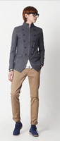 Wholesale 2012 Hottest Sale Korean Men s Leather Sleeve Jacket Outwear Short coat SQG