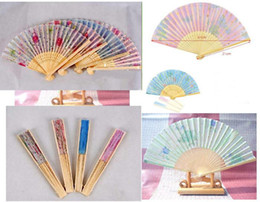 Wholesale Chinese Fashion Handmade Silk folding Bamboo Fan