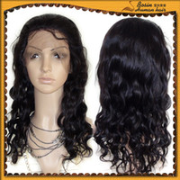 Wholesale b black beautiful full lace wig with thin skin human Indian indic remy wigs