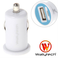 Wholesale Wallyteh High quality For iPhone4s car charger Mini USB Car Charger for iphone Mobile Phone White W
