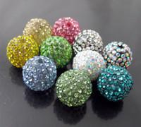 Wholesale Mixed mm crystal beads Shambhala disco ball DIY beads jewelry fittings