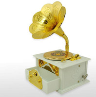 Wholesale 1PCSCreative retro gramophone music box music box birthday gift
