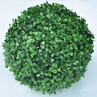 Wholesale 30cm Artificial Plastic GREEN GRASS BALL Boxwood Ball Outdoor Indoor Decoration Plant