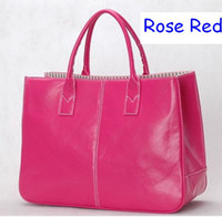 Wholesale Shoulder Bags leather bag hand bags leather women fashion bags tote bag colors B0008