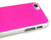 Wholesale 2012 New Brand No logo case for iphone5 brushed Aluminum Metal case for iphone G aluminum back ha