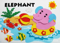 Wholesale Kids DIY Craft Kits EVA D Sticker Ornament animal Puzzles children DIY