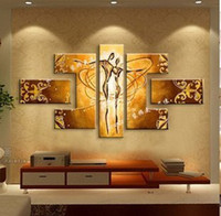 Wholesale pure hand painted oil painting living room modern abstract art love dance