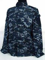 Full bdu black - US Navy BDU Field Uniform Set Digital Navy Blue Camo Hunting Suit Hunting Sets