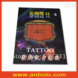 Wholesale 2012 New Tattoo Books Flower Butterfly H8 by Chinese Tattoo Flash Sketch