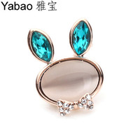 Wholesale Yapolo rhinestone brooch zircon brooch rabbit brooch rhinestone pins z0081
