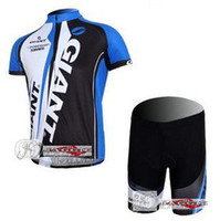 Wholesale New arrived GIANT blue short sleeve cycling wear clothes short sleeve bicycle bike riding jerseys