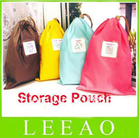 Wholesale 200pcs Travel Gym Sack Bag Waterproof Tag_Make U Lucky Pouch Size M Storage Bags