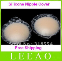 Cheap 500pcs lot (250pairs) New Invisible Bra Breast Nipple Cover Silicone Pad Skin Adhesive Reusable Bra Free Shipping