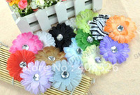Headbands baby gifts daisies - 160pcs crystal Daisy flower Hair Clip Bow Children Head baby gril gift Color
