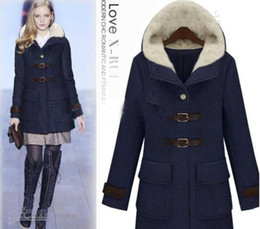 Wholesale Fashion Women s Dust coat Ladies Hooded Coat Fur Coat Overcoat Outwear yuhj