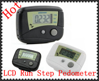 Wholesale LCD Run Step Pedometer Walking distance Calorie Counter DHL