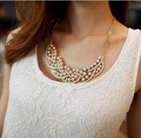 Elegant pearl Collar Necklaces for lady   woman Fashion Jewe...