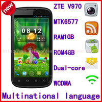 "Bar Android Yes Free shipping 100% original ZTE V970 4.3"" IPS touch screen Android4.1.1 WIFI GPS CPU MTK65771024GHz"
