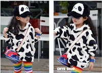 Wholesale girls Clothing Cows Colour Girls Sweater Hoodies coat children sweater kids hoody winter Kids outwea