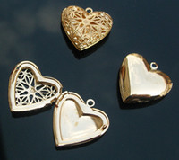 Wholesale Brass Heart Locket With Carving Hollowed Designs MM inside Aromatherapy lockets Bottle Locket