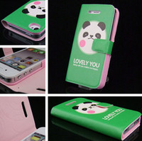 Wholesale lovely animal head sculpture pattern PU leather case interior plastic back cover for iphone4 s