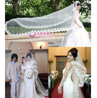Wholesale Wavy lace bulk of yarn bridal veil