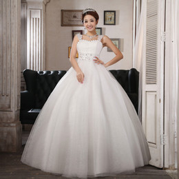 Wholesale 2013 Lace Straps Crystal Applique Tulle Ball Gown Floor Length Cheap Wedding Dresses Bridal Gowns