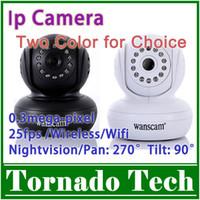 al por mayor las cámaras de seguridad de internet-Gratuito Seguridad Envios Wireless IP cámara de 270 grados a Internet WiFi IR Cam WPA inalámbrico a Internet Webc