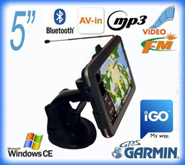 Wholesale 5 inch auto car gps Analogy TV AV IN Bluetooth G card Free map Car GPS Navigation navigator