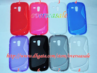 TPU For Samsung  S line shape soft clear Gel TPU back case cover For Samsung Galaxy S3 S III mini I8190 10pcs 20pcs