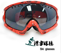 Wholesale Double layer anti fog ski goggles goggles ski glasses wind proof warm air new