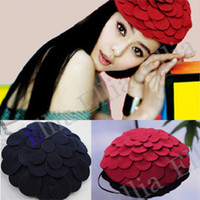 Wholesale Women Fedora hats Dome cap Ladies dress hats Womens caps felt hats wool felting Bowler hat MZ526